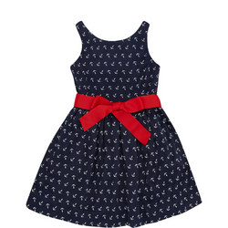 Girls Anchor Print Dress