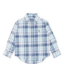 Boys Embroidered Logo Check Shirt