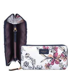 Floral Large Zip-Around Wallet