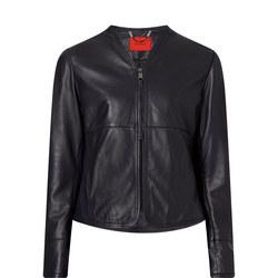Deponete Cropped Leather Jacket