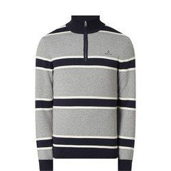 Half-Zip Striped Sweater