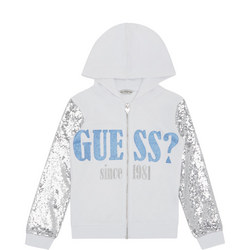 Girls Glitter Sleeve Hoodie