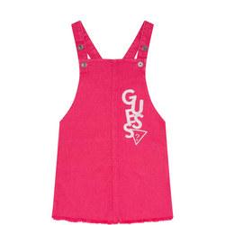 Girls Logo Dungaree Dress