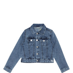 Girls Reverse Logo Denim Jacket