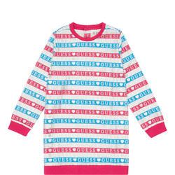 Girls Stripe Logo Dress