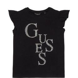 Girls Diamante Logo T-Shirt