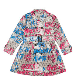 Girls 4G Logo Mac Coat