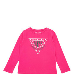Girls Glitter Logo Crew Neck T-Shirt