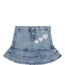 Girls Frill Denim Skirt