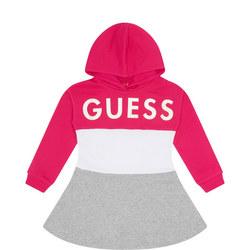 Girls Stripe Hooded Dress