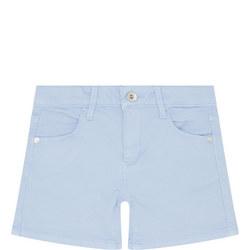 Girls Reverse Logo Denim Shorts