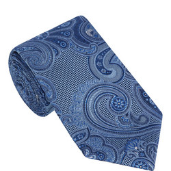 Floral Paisley Check Tie