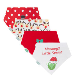 Baby Four Pack Christmas Bibs