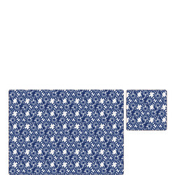 Blue Daisy Placemat and Coaster Set