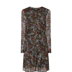 Floral Lurex Spotty Dress