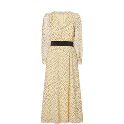 Cutter Polka Midi Dress