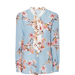 Catone Floral Silk Blouse