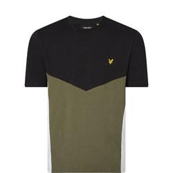 Colour Block Chevron T-Shirt