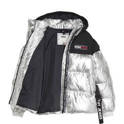Metallic Outdoor Puffer Jacket