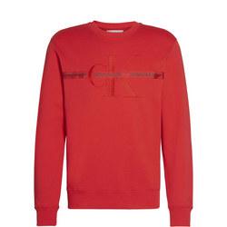 Embroidered Monogram Crew Neck Sweater
