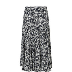Floral Georgette Maxi Skirt