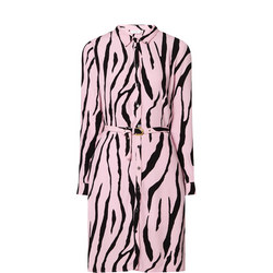 Hayley Zebra Shirt Dress