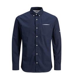 Tape Detail Linen Shirt