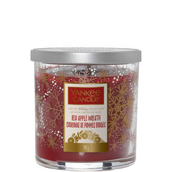 Red Apple Wreath Candle