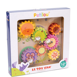 Wooden 'Busy Bee Learning' Gears And Cogs