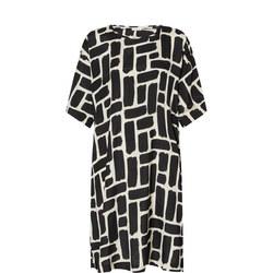 Nabi Abstract Print Midi Dress