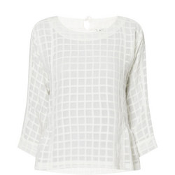 Dacey Transparent Check Top