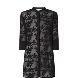 Geam Transparent Floral Tunic Shirt