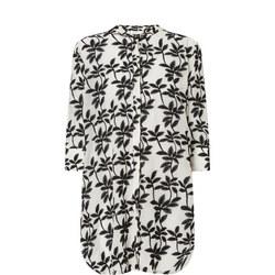 Geam Leaf Print Tunic Shirt