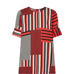 Multi Stripe Tunic Top