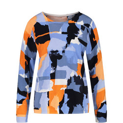Colour Block Printed Sweater