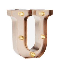 Mini Marquee Letters 10Cm Rose Gold U
