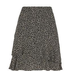 Autumn Floral Print Skirt