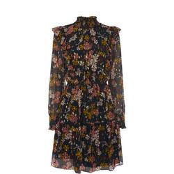Clover Floral Silk Blend Dress