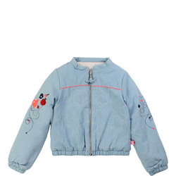 Girls Padded Bomber Jacket