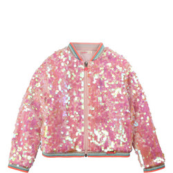 Girls Sequin Bomber Jacket