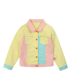 Girls Colour Block Denim Jacket