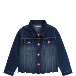 Girls Scallop Hem Denim Jacket