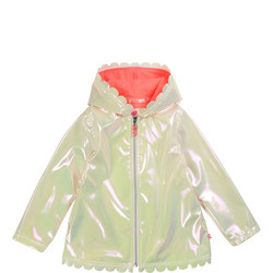 Girls Iridescent Rain Jacket