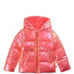 Girls Glitter Puffer Jacket