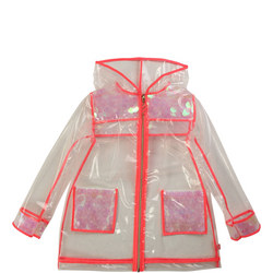 Girls Transparent Sequin Rain Jacket