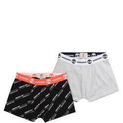 Boys Two-Pack Logo Print Boxers