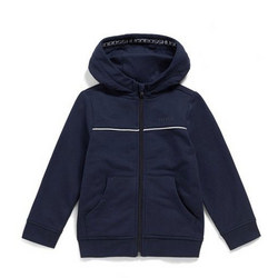 Kids Piped Zip Front Hoody