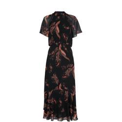 Rose Paisley Leaf Dress