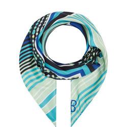 Stripe Print Silk Scarf