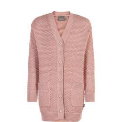 Girls Longline Knitted Cardigan